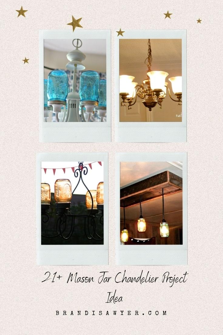 21+ Mason Jar Chandelier Project Idea