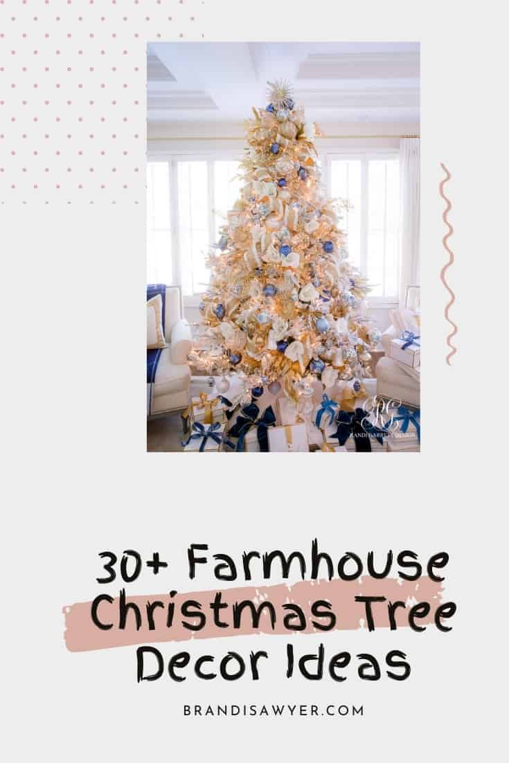 30+ Farmhouse Christmas Tree Decor Ideas