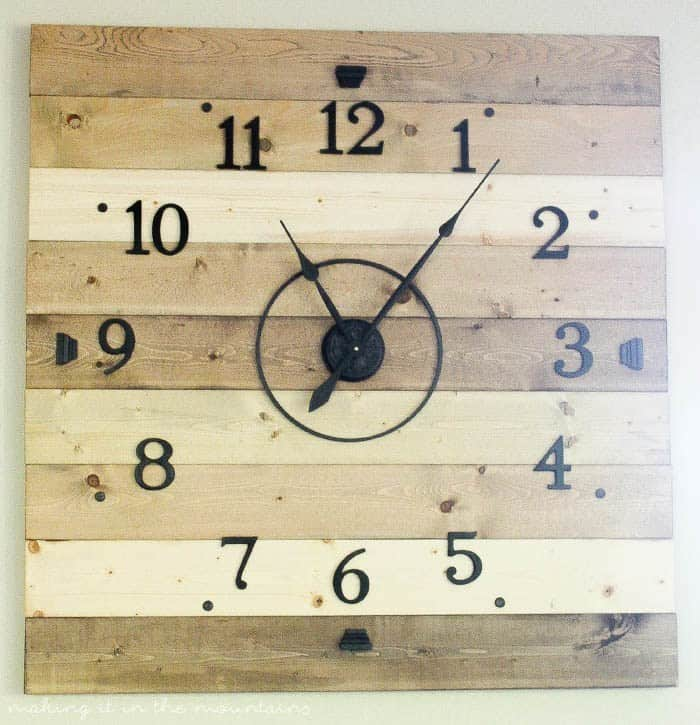 Rustic Wood Plank Clock