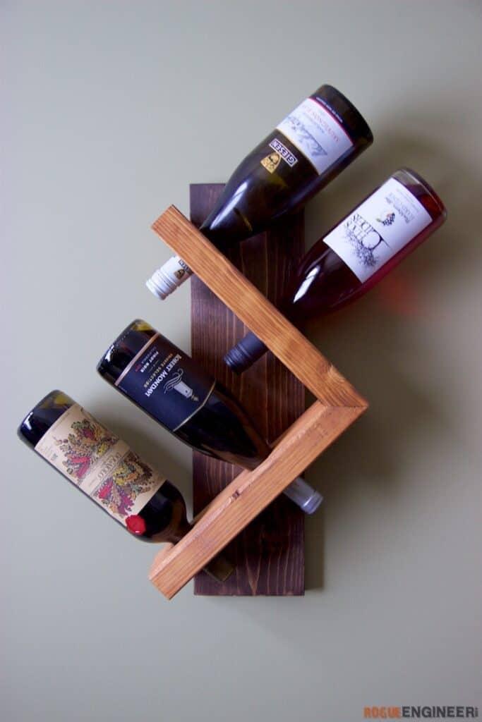 DIY Wall Wine Holder