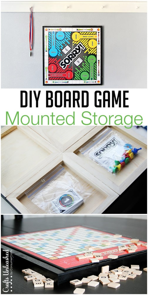 DIY Board Game Storage Organizer