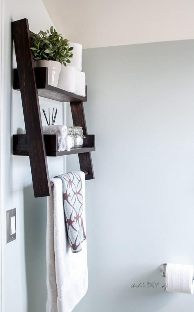 DIY Floating Ladder Shelf