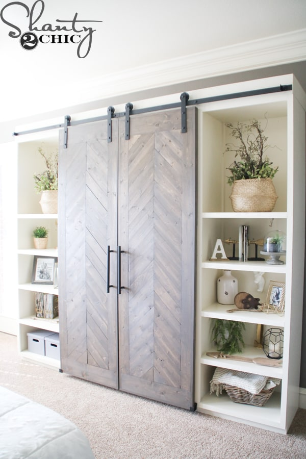 Sliding Barn Door Media Console