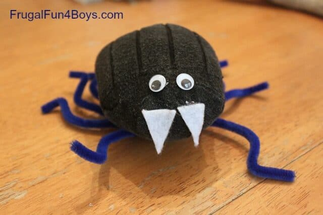 A Sock Spider with a Spider Web