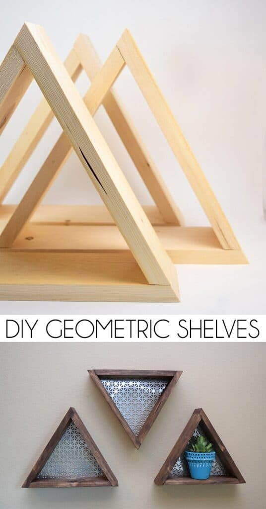 DIY Geometric Shelves