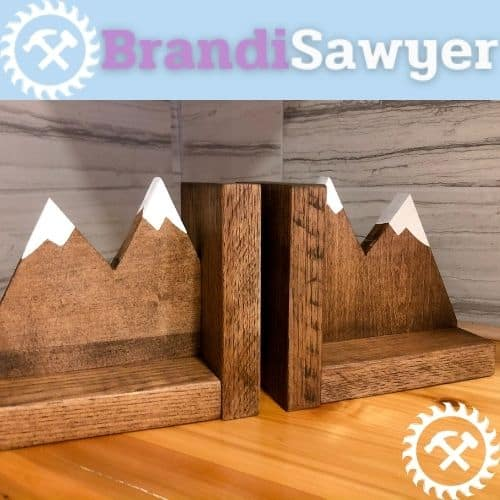 learn how to make wooden bookends