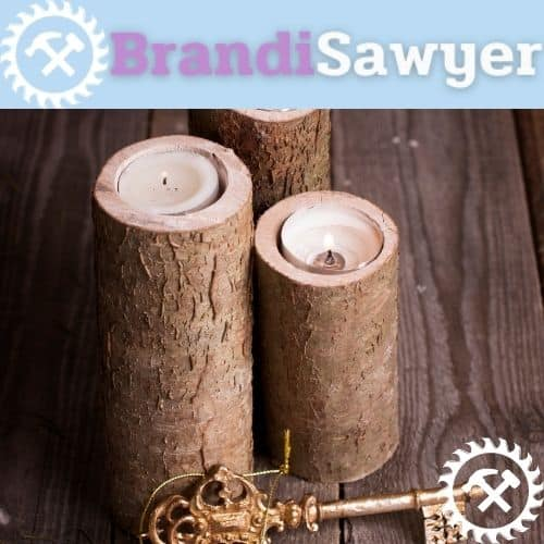 learn how to make wooden candle holders